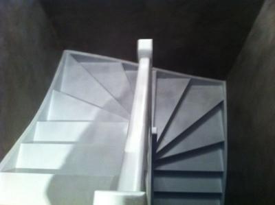 Cage d'escalier finalisée