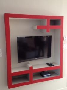 Salon finalisé - Mur Tv