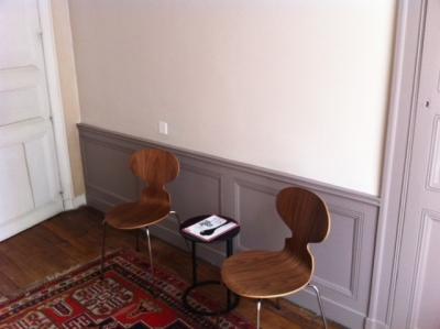 Salle d'attente cabinet finalisée